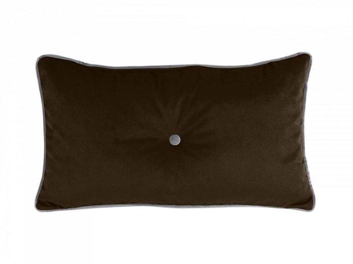 Подушка декоративная Pretty темно-коричневого цвета