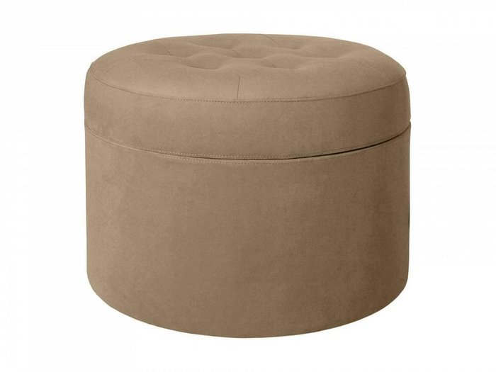 Пуф Barrel большой с декоративной строчкой и пуговицами