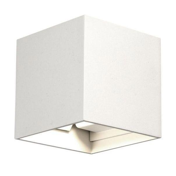 Уличный настенный светодиодный светильник Lima Led белого цвета