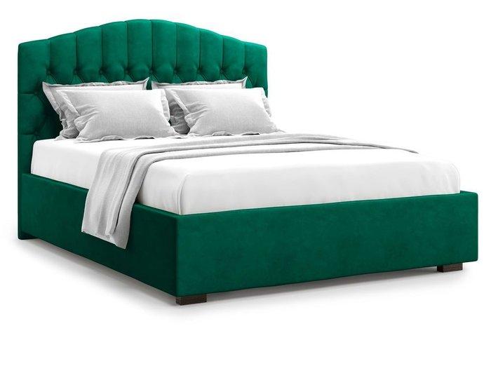 Кровать с подъемным механизмом Lugano 160х200 зеленого цвета