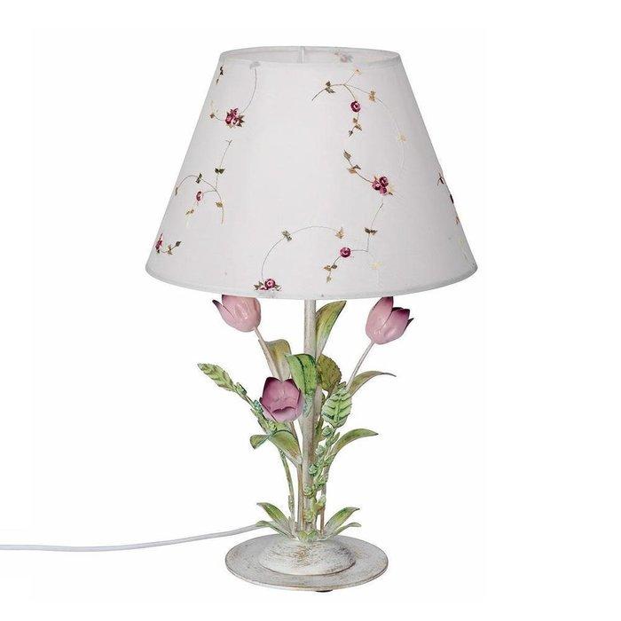 Настольная лампа с тюльпанами