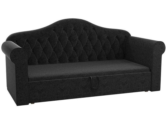 Детская кровать-тахта Делюкс 78х160 черного цвета