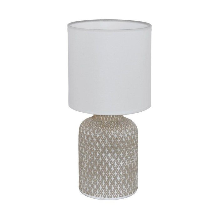 Настольная лампа Bellariva с белым абажуром