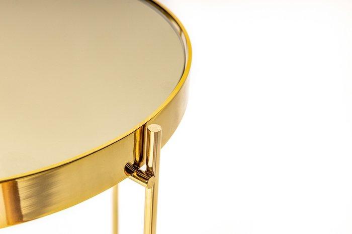 Приставной столик Gatsby S золотого цвета
