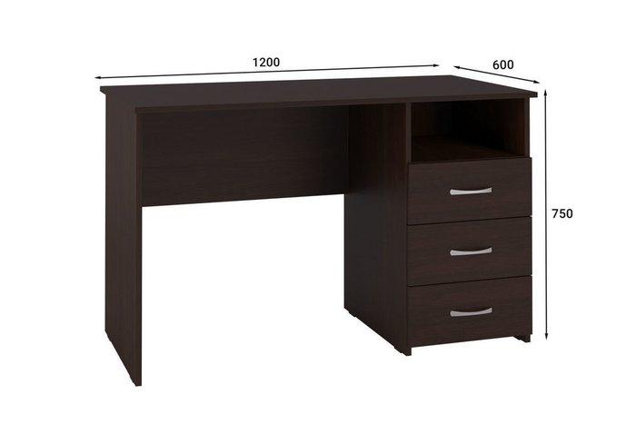 Стол письменный Классик темно-коричневого цвета