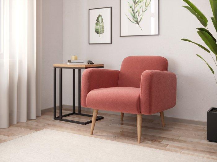 Кресло Уилбер тёмно-розового цвета
