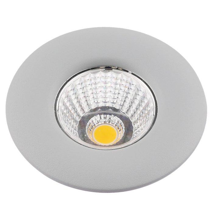 Встраиваемый светодиодный светильник Uovo серого цвета