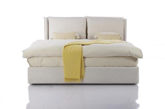 Кровать Avenue 160х200 с подъемным механизмом белого цвета