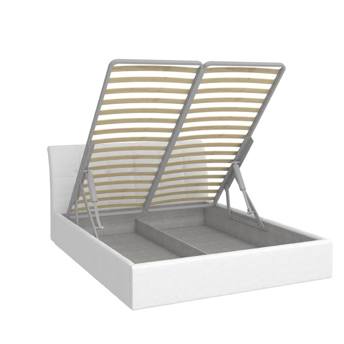 Кровать Инуа 180х200 белого цвета с подъемным механизмом
