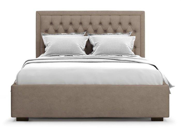 Кровать с подъемным механизмом Orto 160х200 темно-бежевого цвета