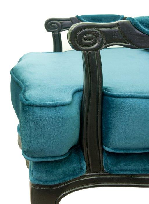 Полукресло Nitro blue с велюровым покрытием