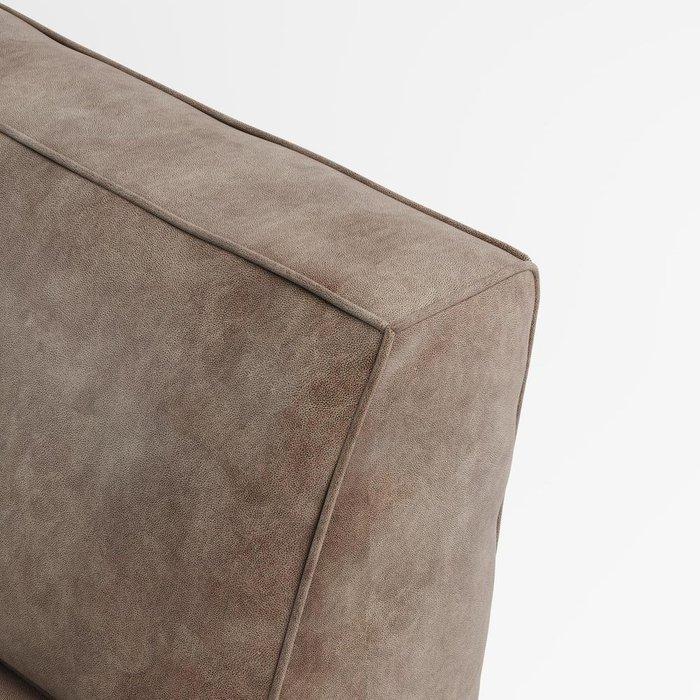 Диван модульный бескаркасный Quadro коричневого цвета