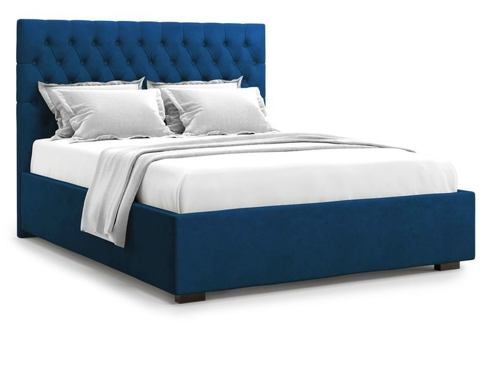 Кровать с подъемным механизмом Nemi 180х200 синего цвета