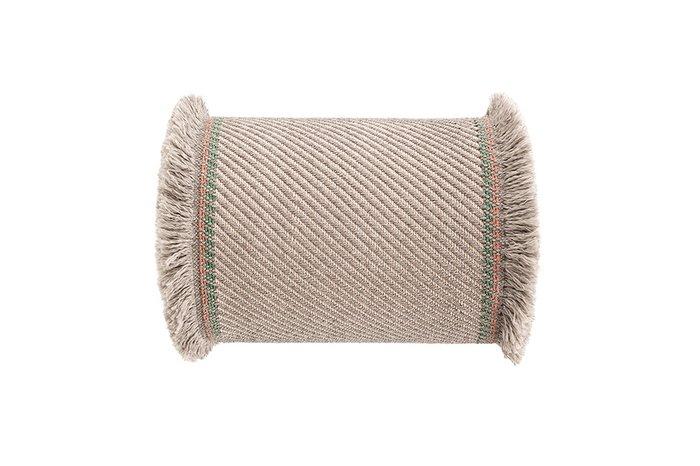 Большая подушка-рол Diagonal almond-ivory цвета слоновой кости
