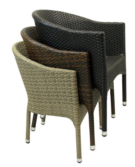 Кресло садовое Lugano черного цвета
