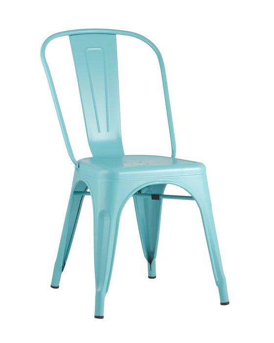 Стул Tolix голубого цвета