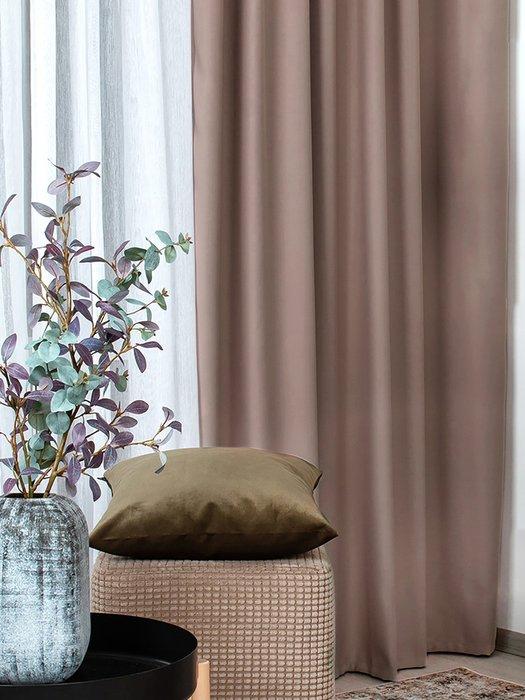 Штора блэкаут Stone 170х270 коричневого цвета