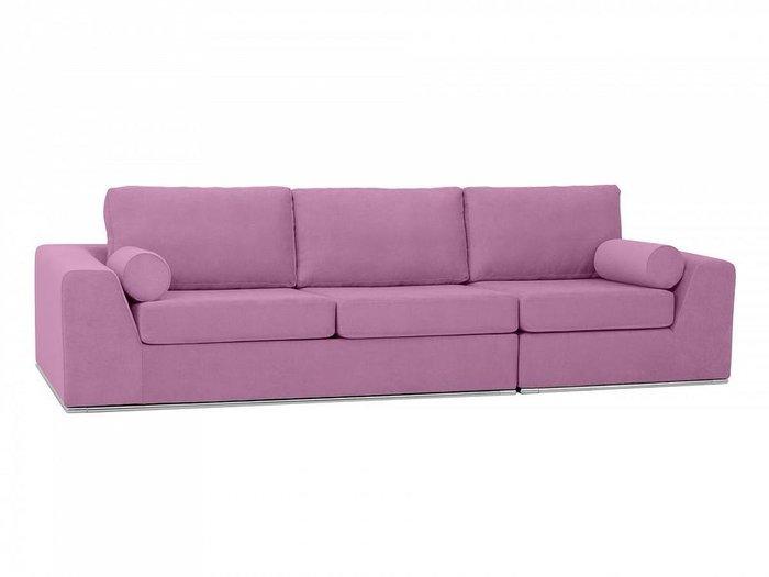 Угловой диван-кровать Igarka темно-розового цвета