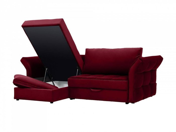 Угловой диван-кровать Wing бордового цвета