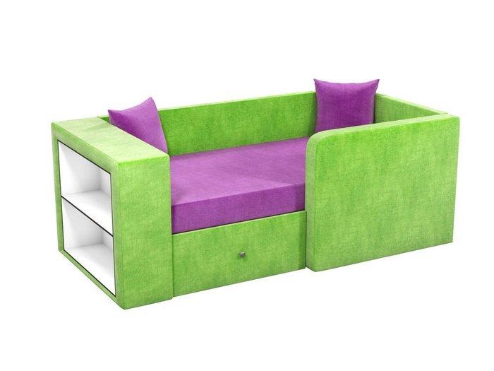 Детская кровать-диван Орнелла фиолетово-зеленого цвета