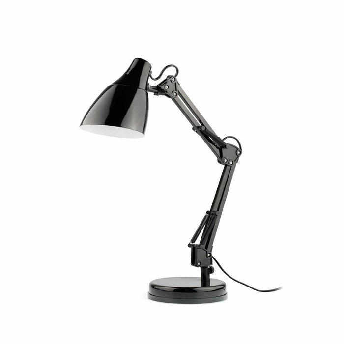 Настольная лампа Faro Gru (черная) из металла