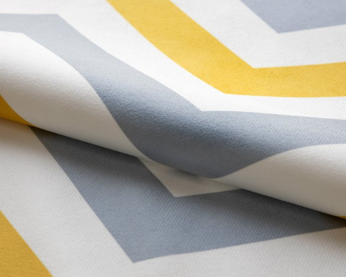 Покрывало Uno Rikko 140x210 с серо-желтым узором