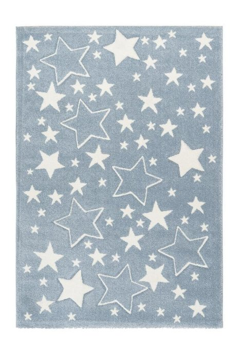 Детский ковер Amigo Stars Blue голубого цвета 120х170