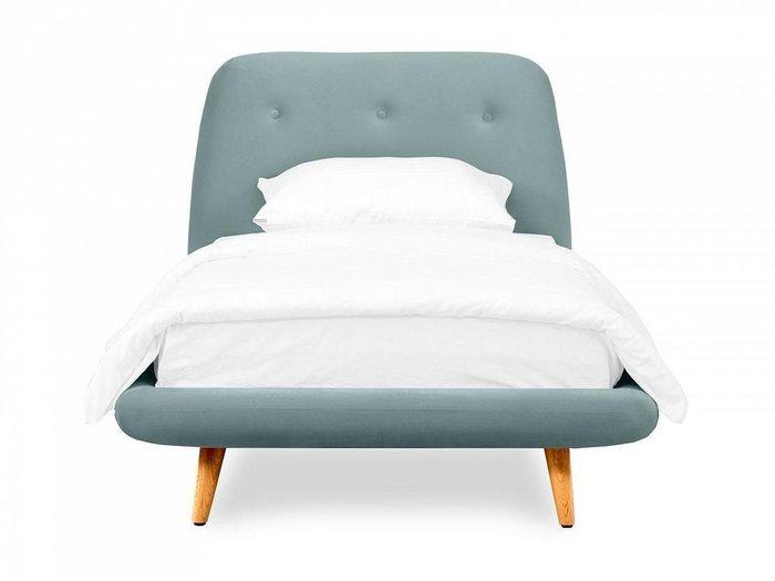 Кровать Loa 90х200 серо-голубого цвета