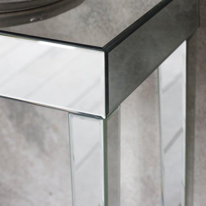 Зеркальная консоль Porada на высоких ножках