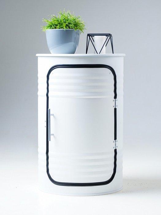 Журнальный столик-бочка Pro white белого цвета