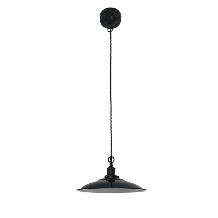 Подвесной светильник Lang Colgante Negro черного цвета