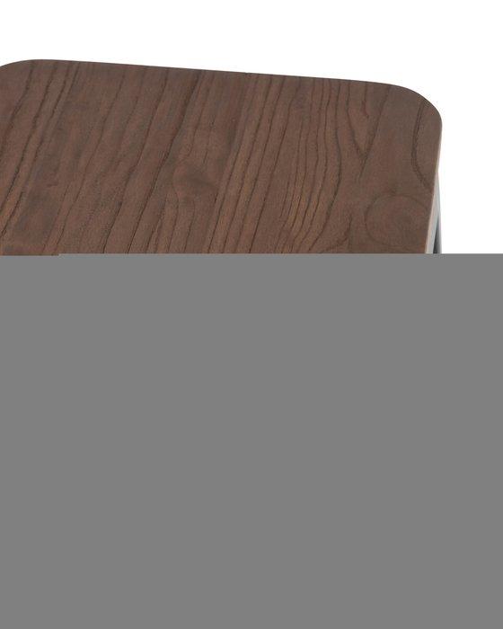 Стул барный Tolix Wood из стали и дерева