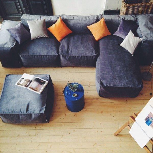 Набор модульной мебели Yolande серого цвета