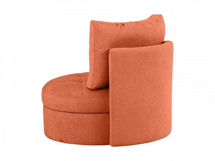 Кресло Wing Round кораллового цвета