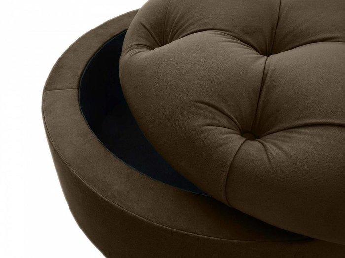 Пуф Meggi темно-коричневого цвета с емкостью для хранения