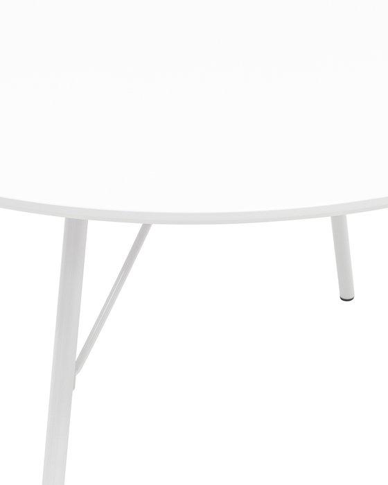 Стол обеденный Мемфис белого цвета