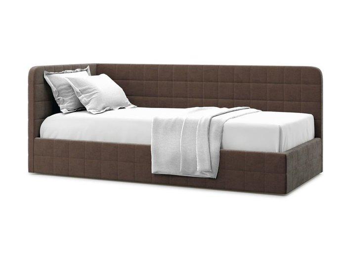 Кровать с подъемным механизмом Tichina left 120х200 коричневого цвета