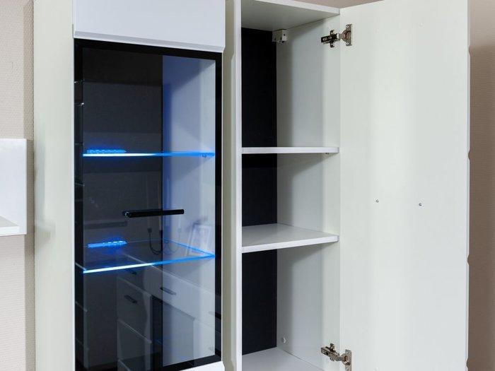 Шкаф-пенал навесной Йорк белого цвета