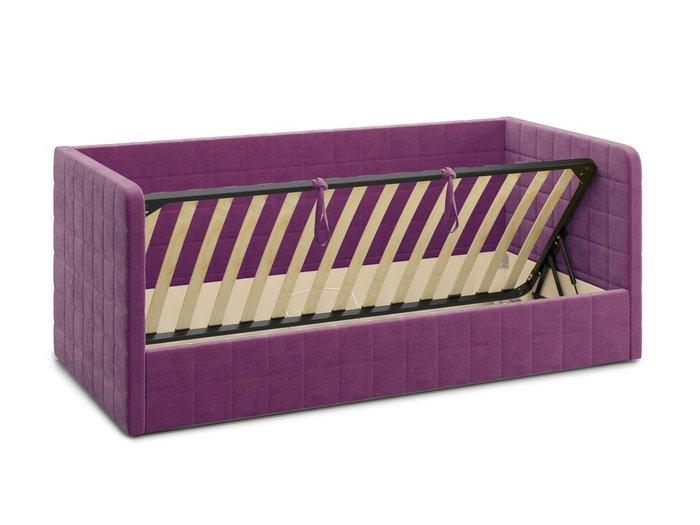 Кровать с подъемным механизмом Brenta 120х200 фиолетового цвета