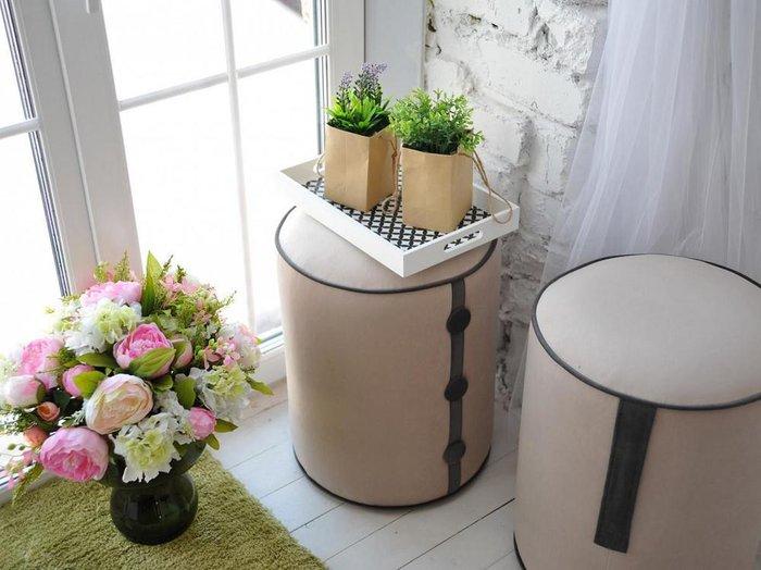 Пуф Drum Handle с каркасом  из деревянного бруса и фанеры