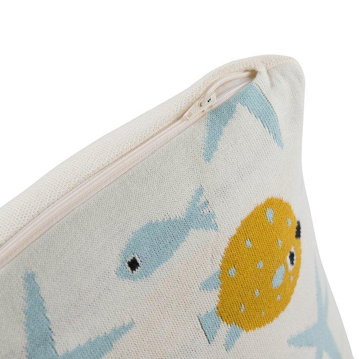 Подушка декоративная из хлопка с принтом oceania world 35х35
