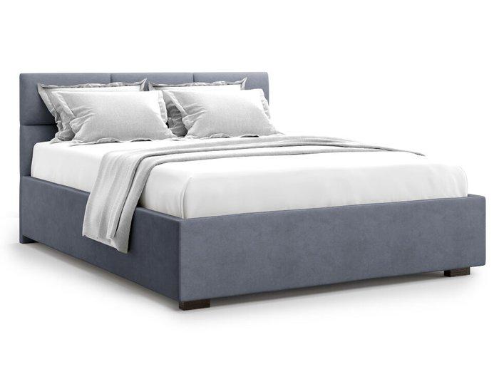 Кровать Bolsena 140х200 серого цвета с подъемным механизмом