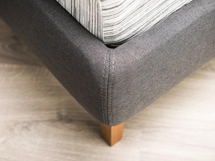 Кровать Клэр 160х200 серого цвета с подъемным механизмом