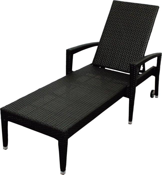 Шезлонг Maui цвета черный