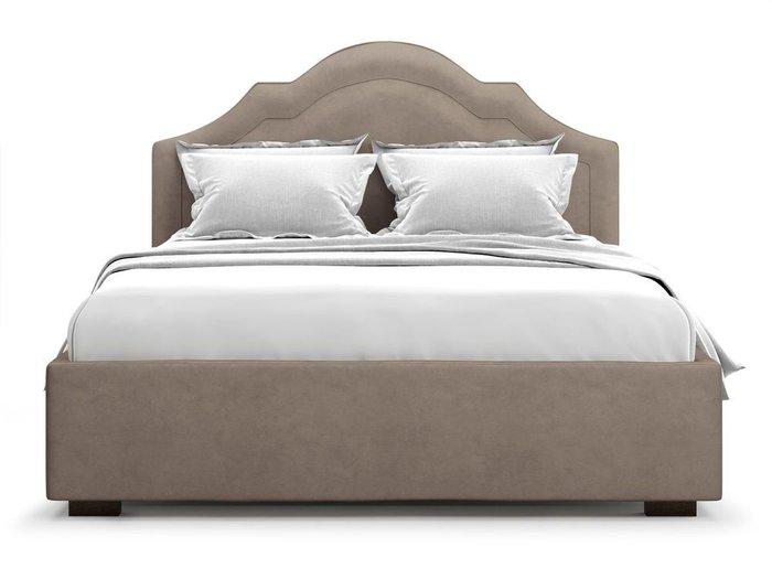 Кровать с подъемным механизмом Madzore 180х200 темно-бежевого цвета