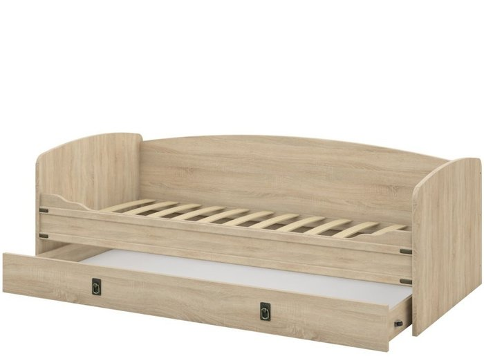 Кровать-тахта Валенсия 90х200 бежевого цвета