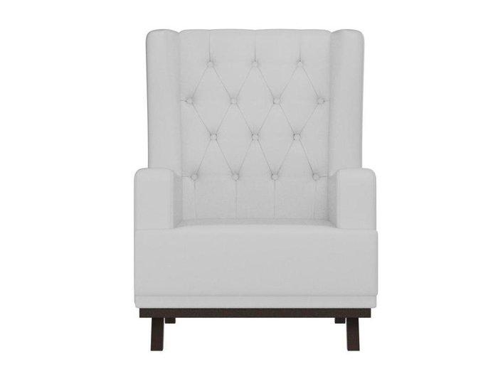 Кресло Джон Люкс белого цвета (экокожа)