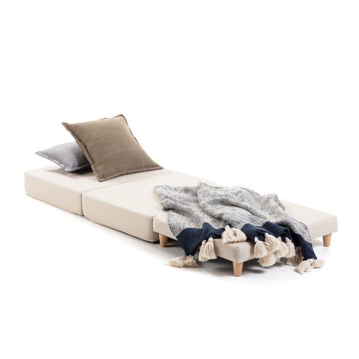 Пуф-кровать Lizzie серого цвета