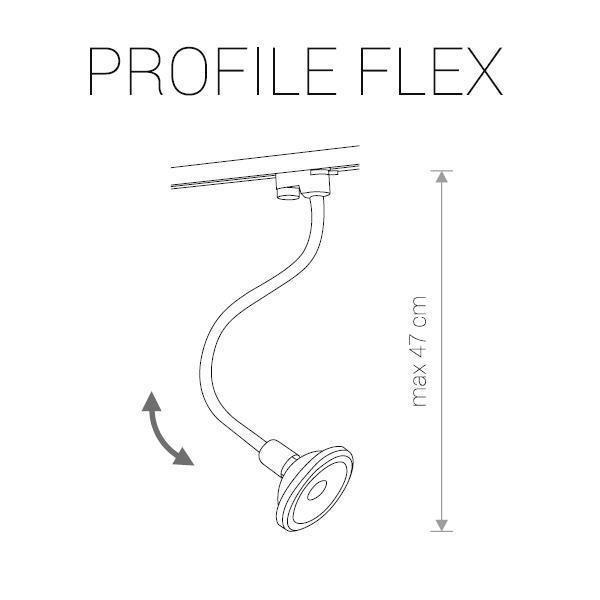 Трековый светильник Profile Flex белого цвета