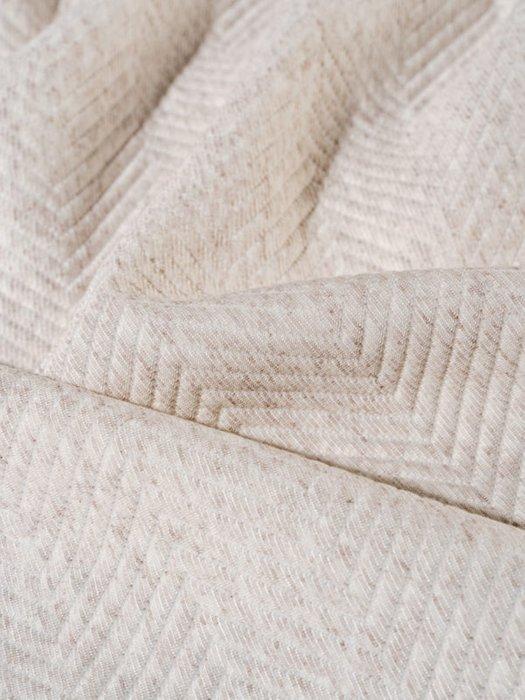 Трикотажное покрывало Pisa linen 230х250 бежевого цвета